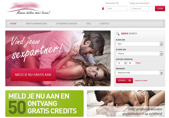 Full-featured social network for adult dating with advanced paid options. It considers specifics of adult dating in the Netherlands.